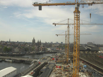 bouwput Amsterdam Centraal Station